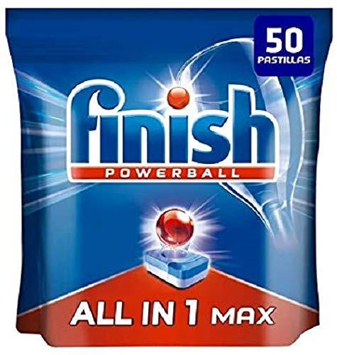 Finish Powerball All in 1 Max - Pastillas para el lavavajillas todo en 1 - formato 50 unidades