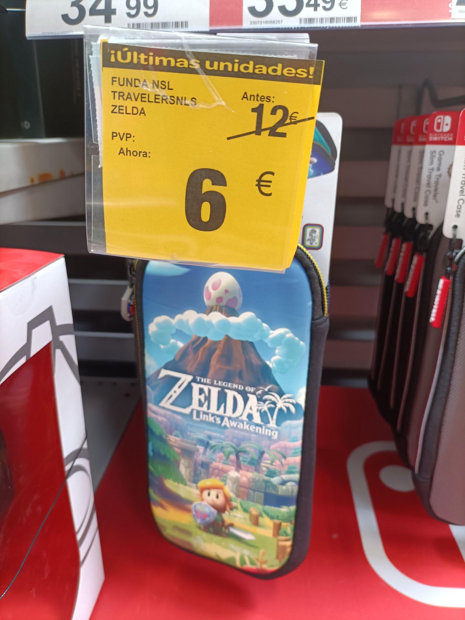 Fundas Nintendo Switch Zelda o Mario a 6€ (Carrefour Nassica)