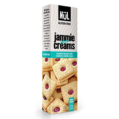 Mínimo histórico para NÜL - Galletas sin gluten rellenas de frambuesa y de crema de vainilla y frambuesa, 12 x 115 g