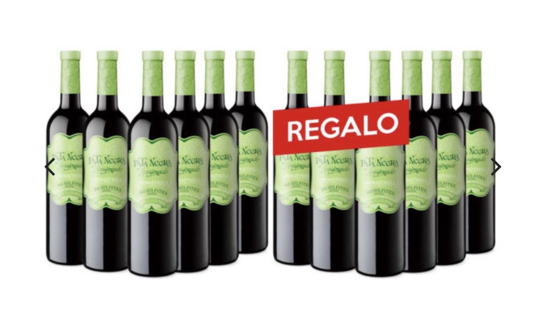6 + 6 en botellas Pata Negra Apasionado Jumilla