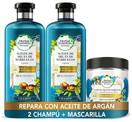 Herbal Essences Aceite De Argán 2 champús y 1 mascarilla