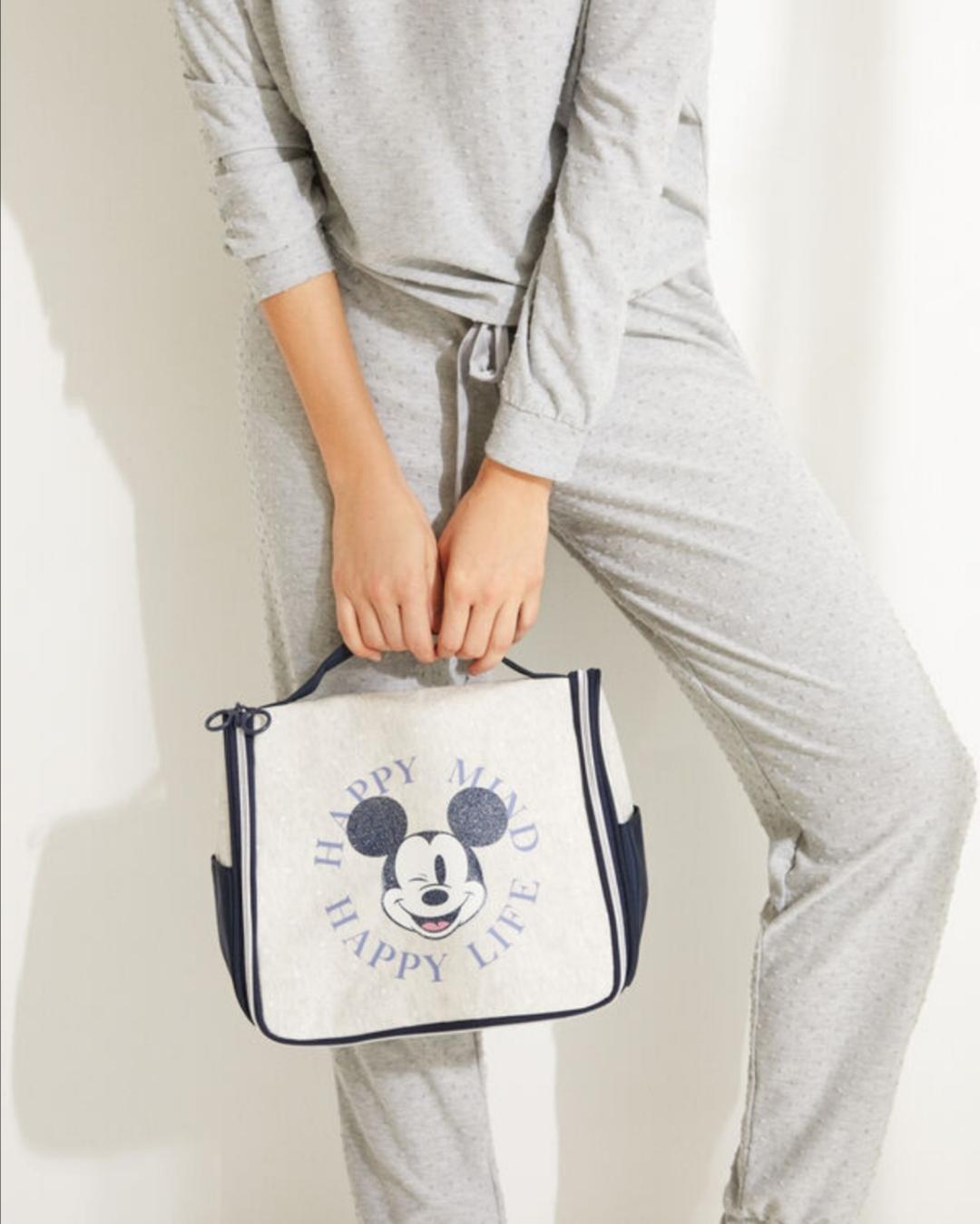 Neceser grande maletín Mickey gris