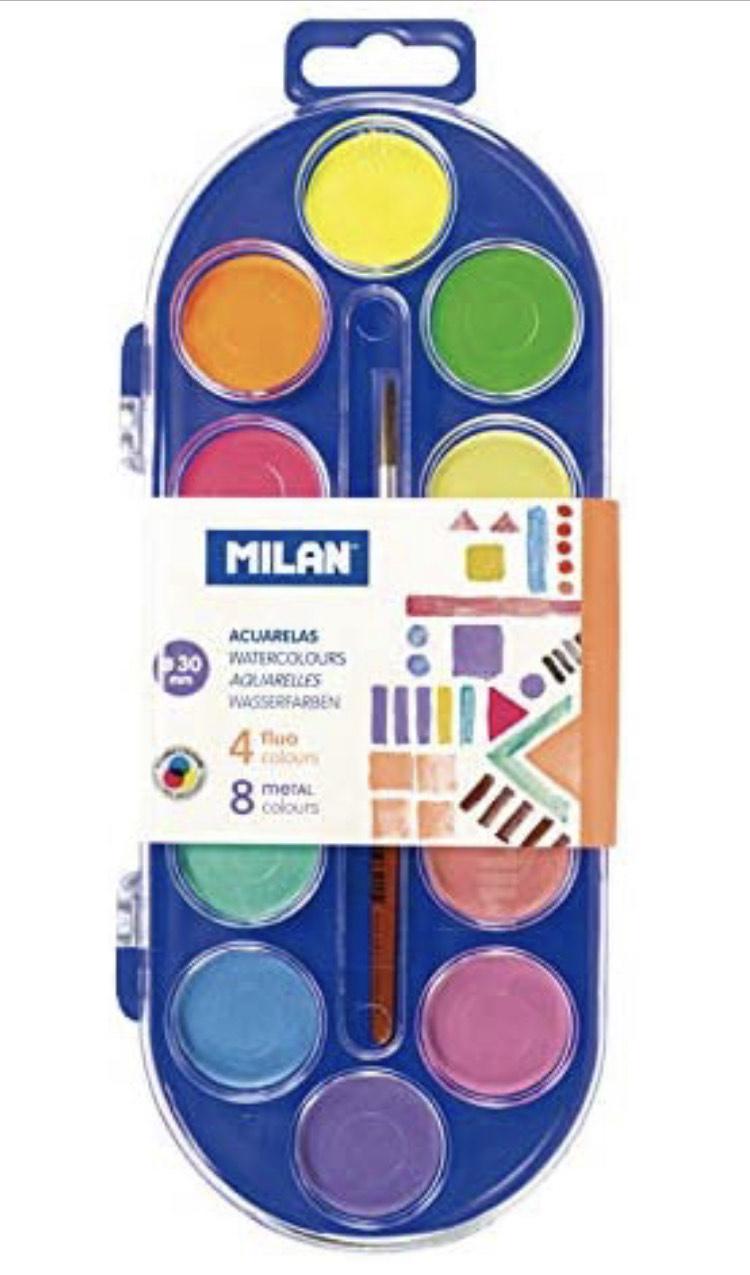 Acuarelas Milán (12 colores)