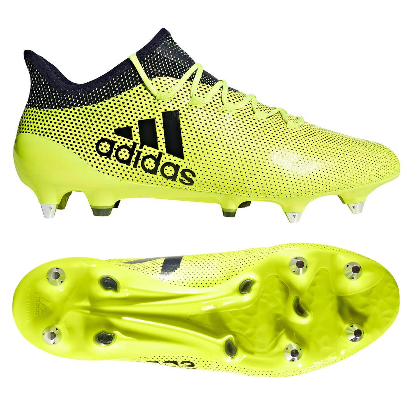 Adidas x 17.1 sg botas de fútbol Zapatillas de naturaleza césped amarillo/negro