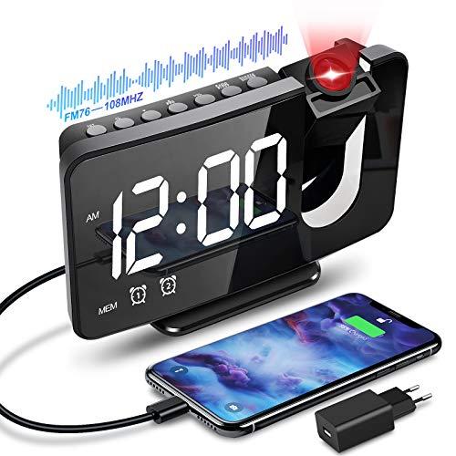 Despertador con proyector