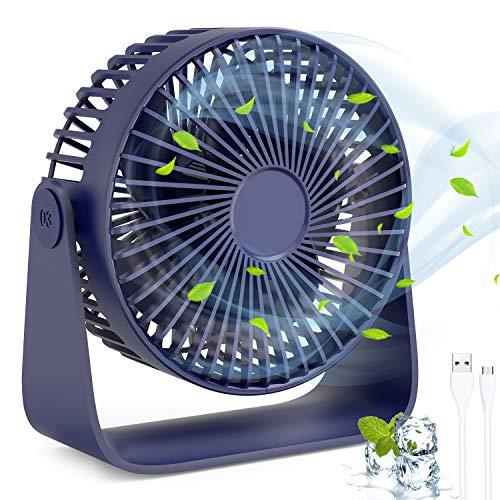 Ventilador USB Silencioso Puede Ponerse Aceites de Aromaterapia, 3 Colores por 9,99€