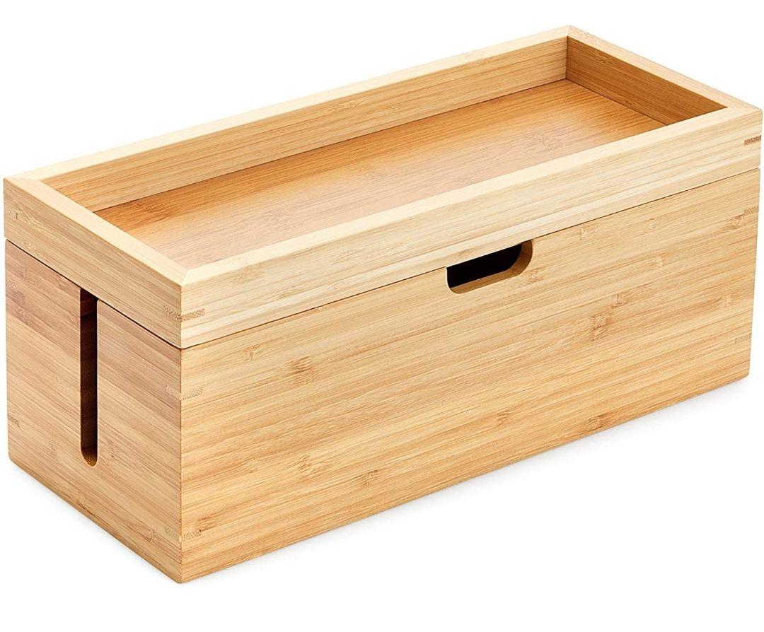 Caja de bambú con Tapa de segunda mano como nuevo