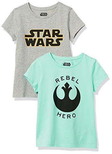 Pack 2 camisetas de Niñas Star Wars Rebel talla XS