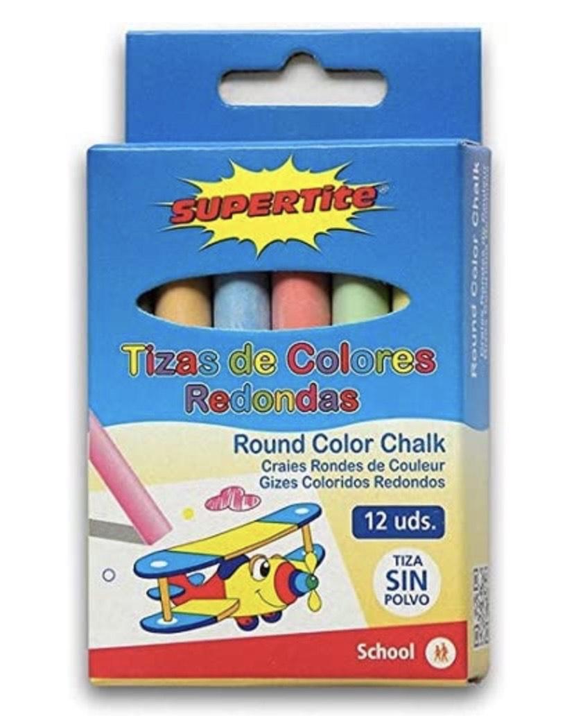 Pack de 12 tizas de color