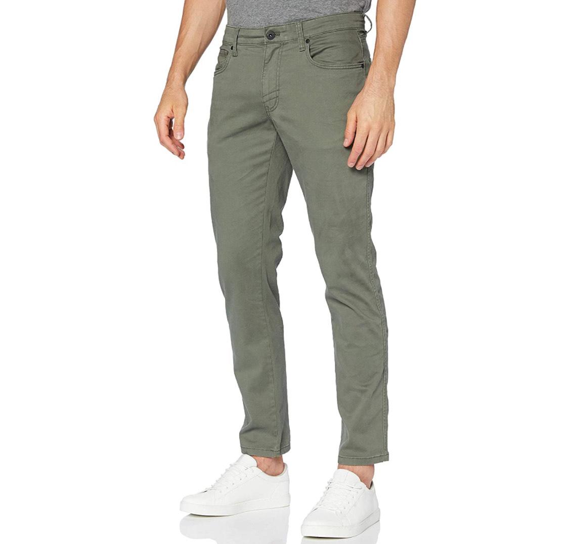 Pantalón hombre gris verdoso talla 44 (86cm. cintura/81cm. largo)