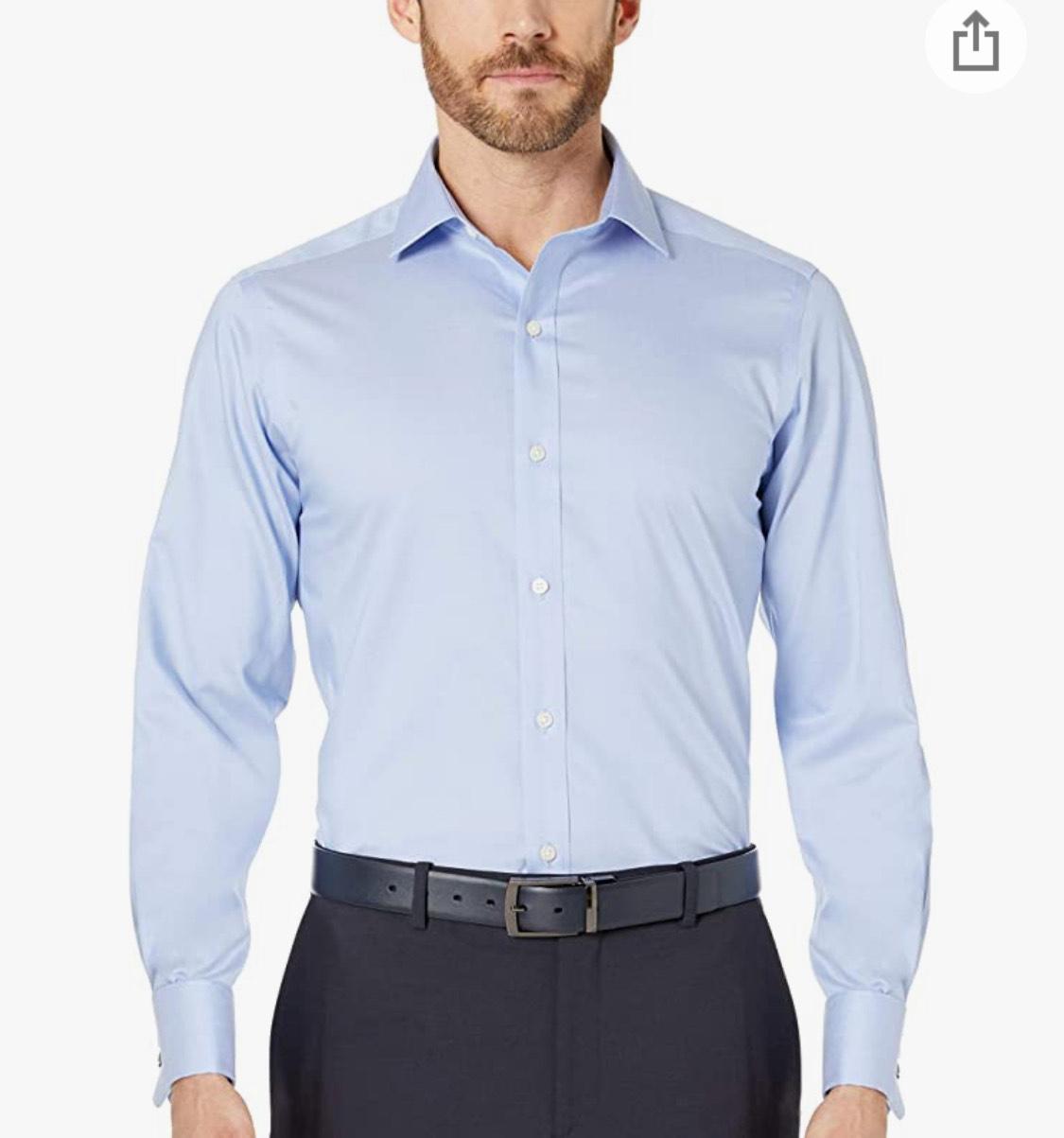 Camisa algodón azul claro talla XL (43cm. cuello/91cm. manga)