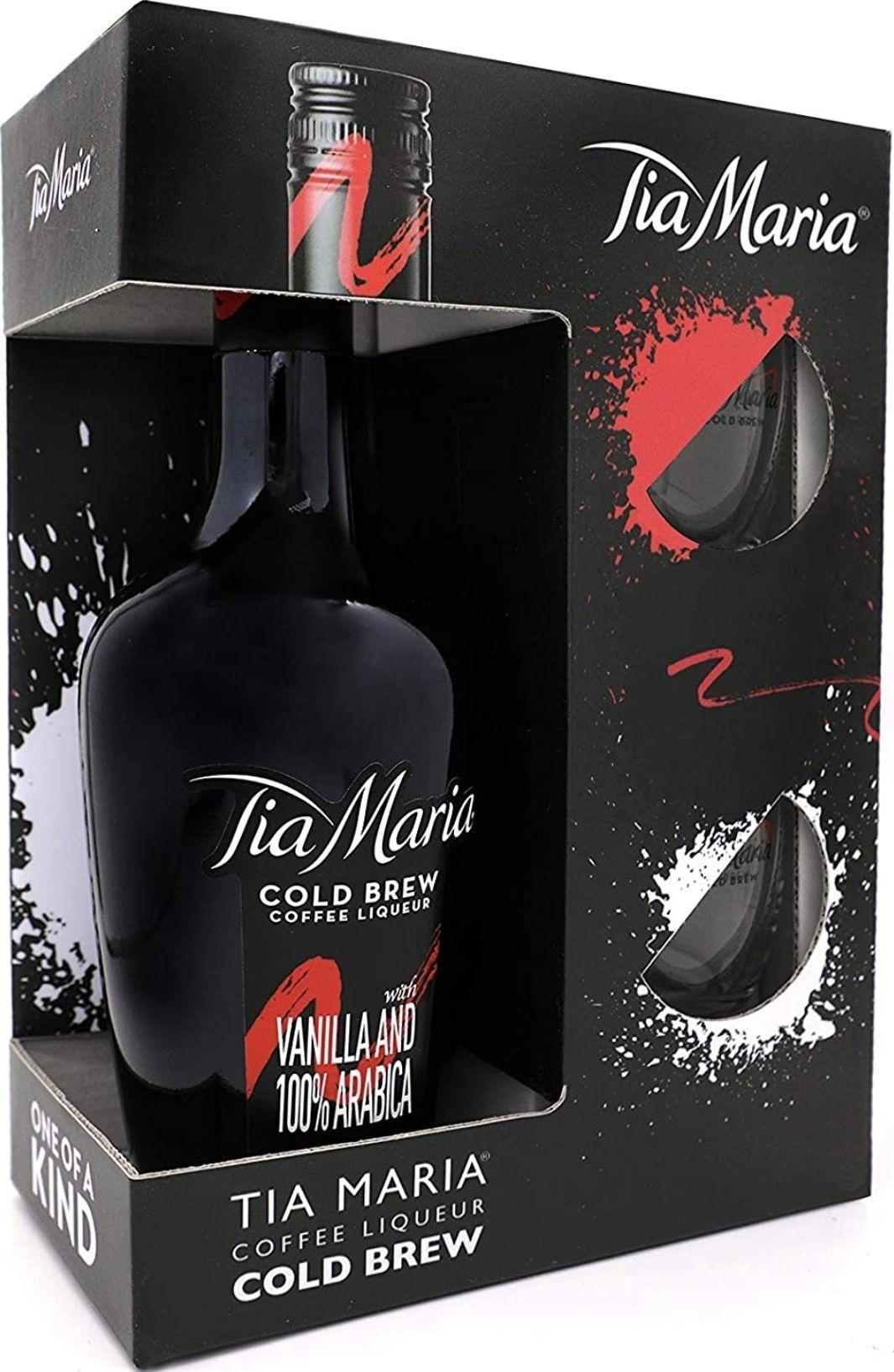 Tia Maria Licor de café 20% 700 ml con 2 vasos
