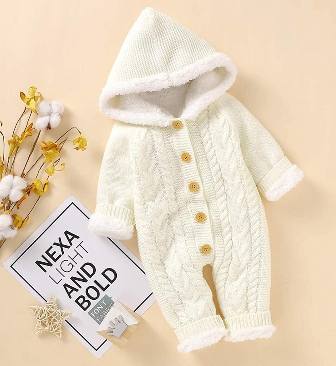 Mameluco invierno bebés (6-12 meses)