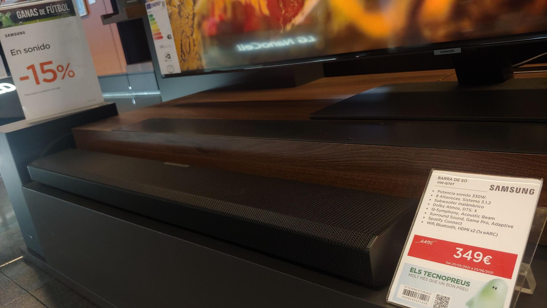 Barra Sonido Dolby Atmos 330W Samsung