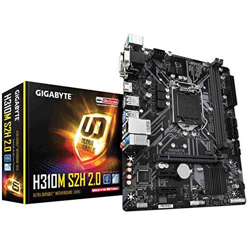 Gigabyte H310M S2H 1.2 - Placa Base (DDR4-SDRAM, DIMM, 2133, 2400, 2666 MHz, Dual, 32 GB, Intel)