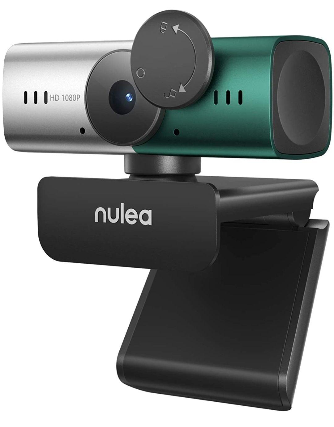 Webcam con Micrófono, Full HD 1080P/ 30 fps con Cubierta de Privacidad