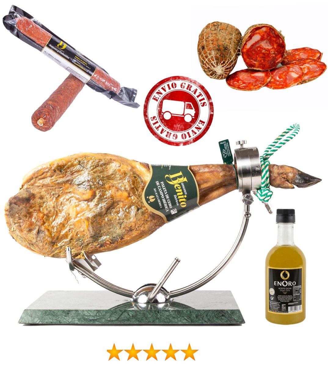 Paleta cebo de campo brida verde 4,5-5kg + chorizo bellota vela + salchichón bellota vela + medio morcón + botella aceite 500ml