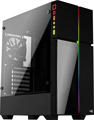 Caja ordenador Aerocool Playa Mid Tower Case con ventana de Cristal Templado