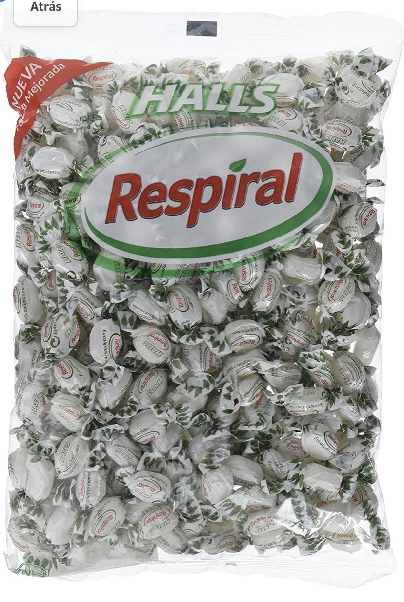 1 kilo de Halls Respiral - Caramelos Duros Sabor Eucalipto y Mentol