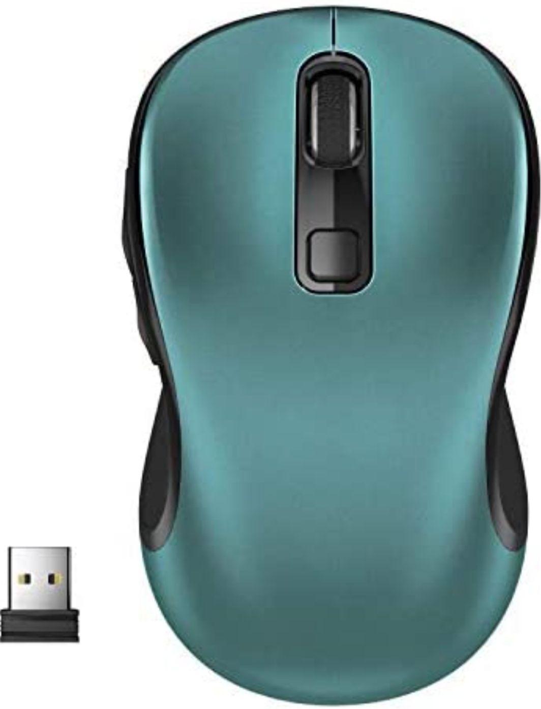 WisFox Ratón Inalambrico, 2.4G Ergonómico Antideslizante [Varios Colores]