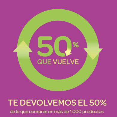 50% que vuelve en Carrefour del 17 al 29 de junio
