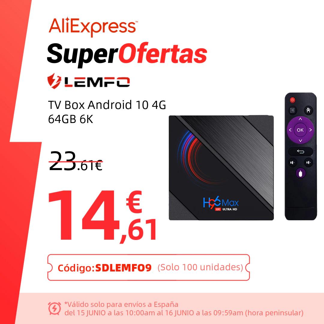 TV Box Android LEMFO 2/16 desde España por solo 13€
