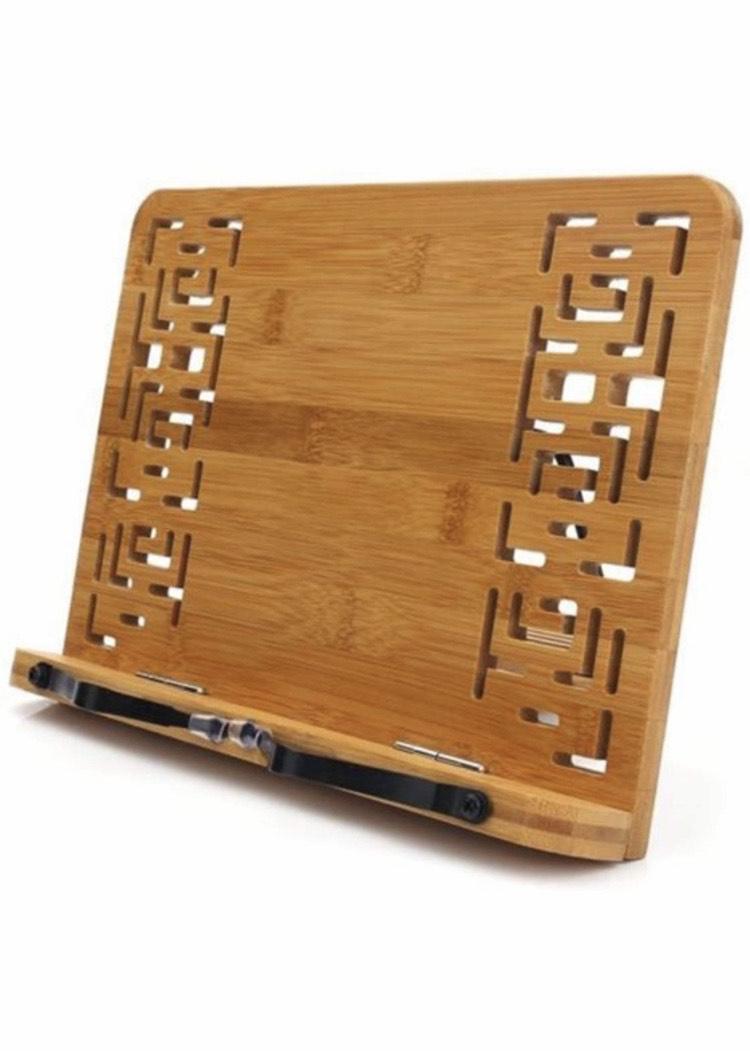 Atril de bambú para Libros, Cocinas, Recetas, iPad, Tabletas