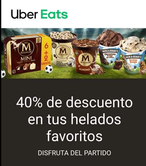 40% de descuento en los helados Ben&Jerry y Magnum pidiendo en Uber Eats