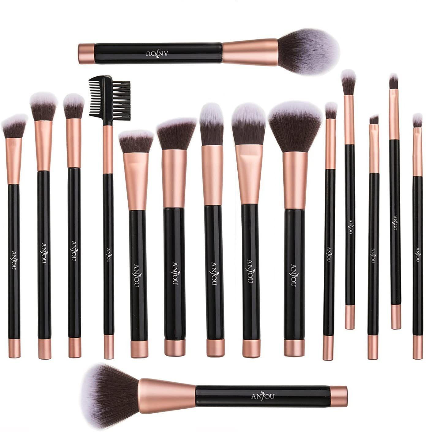 16 brochas de maquillaje aplicar cupon