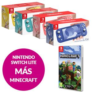 Nintendo Switch Lite + Minecraft SWITCH EDITION