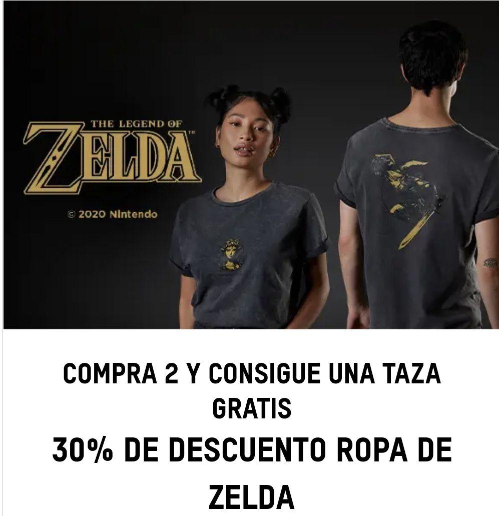 30% de descuento en ropa de Zelda, si compras dos taza de regalo!