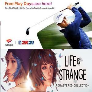 STADIA - Juega PGA TOUR 2K21 (fin de semana) y Life is Strange, Life is Strange: Before the Storm GRATIS con PRO
