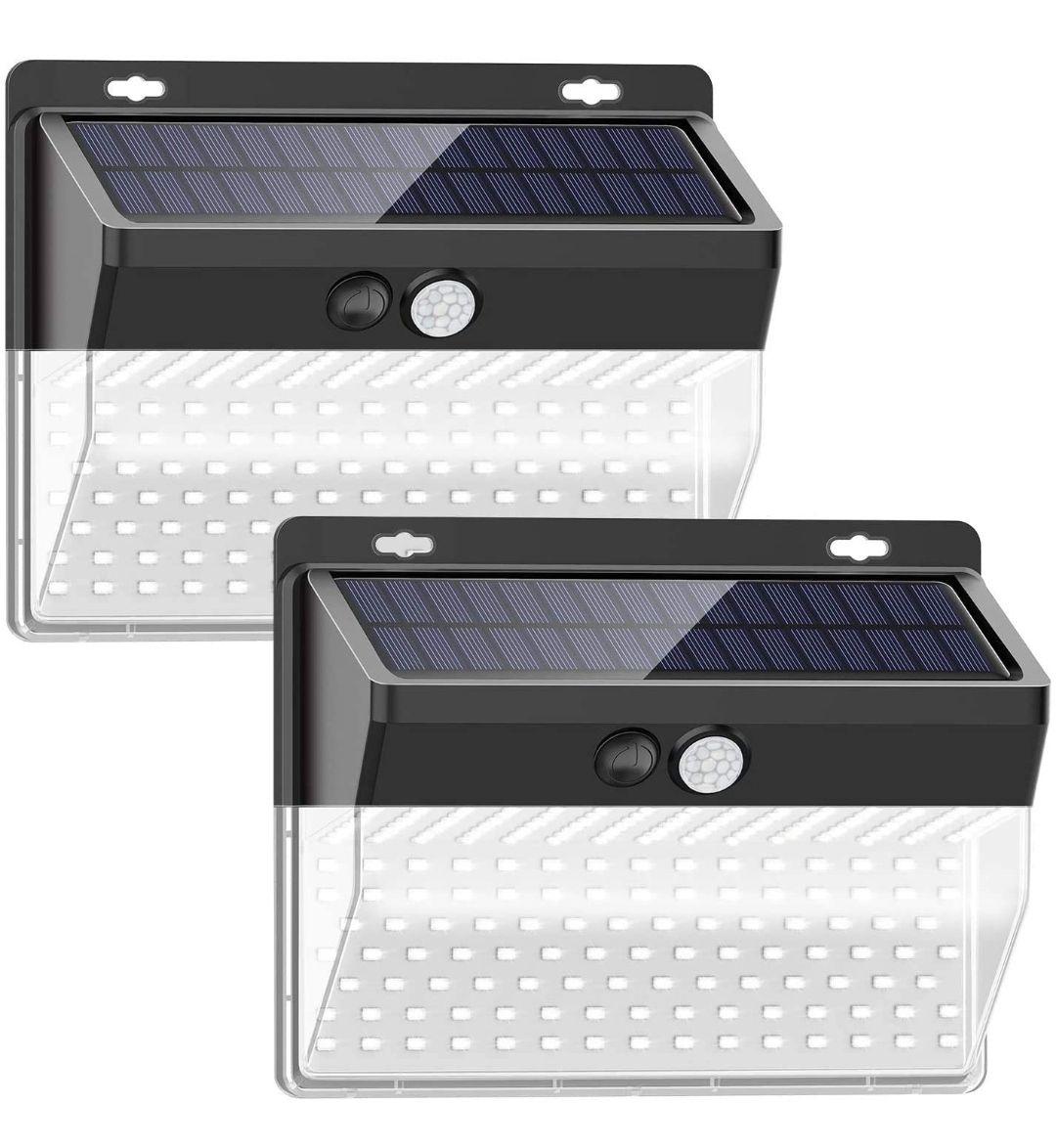 Pack de 2 focos solares aptos para exterior206 LED / 3 Modos