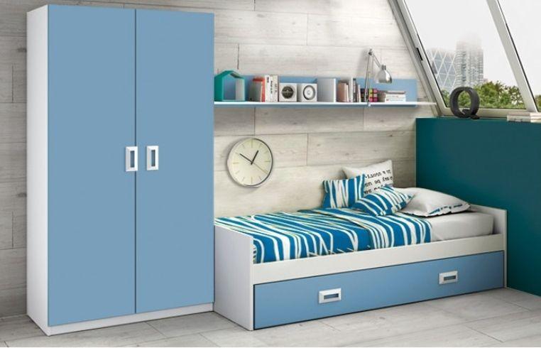 Dormitorio juvenil COMPLETO azul o rosa