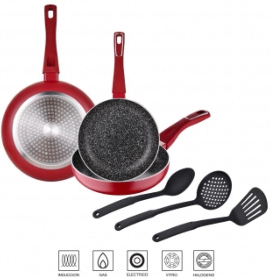 Pack Sartenes Inducción Aluminio + Utensilios Cocina SAN IGNACIO Vinum