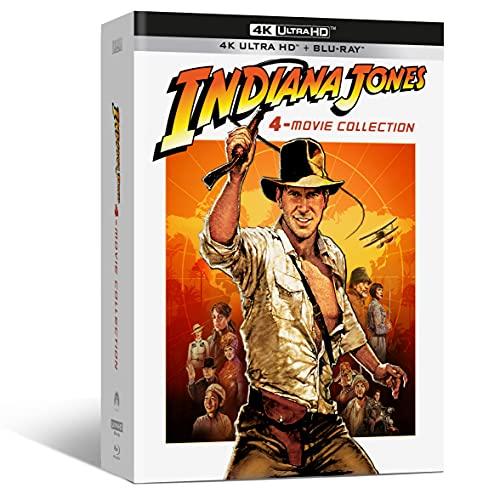Indiana Jones 4-Movie Collect. ( Box 4 4k+4 Br+ Bonus Disc ) Incluyen Pista De Audio en Español