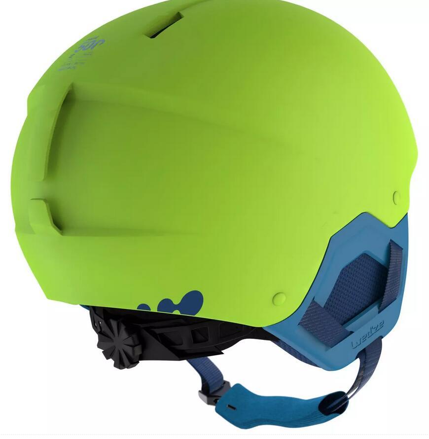 Casco Esquí y Snowboard, Wedze, H-KID 500, Niños, Verde
