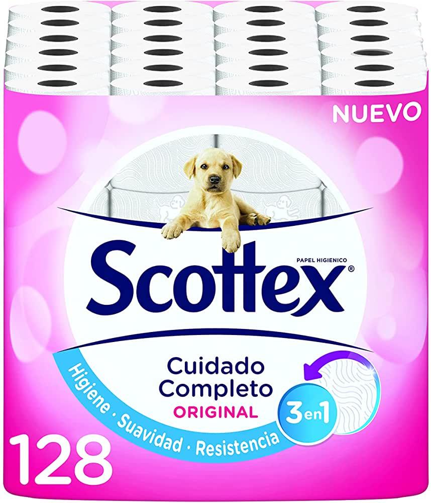 Papel Higiénico Scottex 128 rollos 19.3€