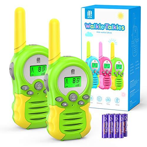 Walkie Talkie PMR446 8 Canales Función VOX Rango de 3KM 10 Tonos de Llamada con LCD