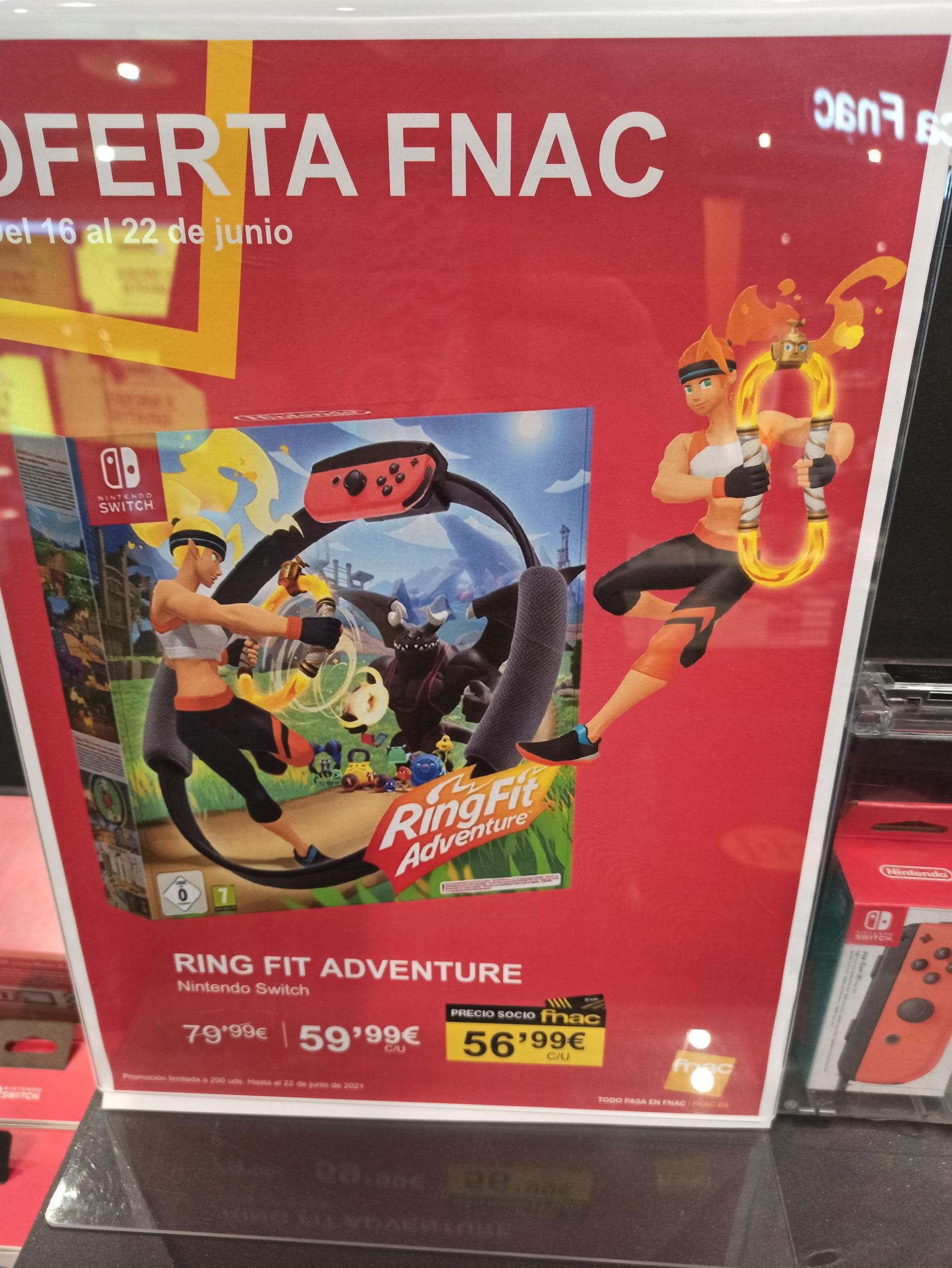 Ring Fit Adventure Nintendo Switch 56,99 € Socios   59,99 € no socios
