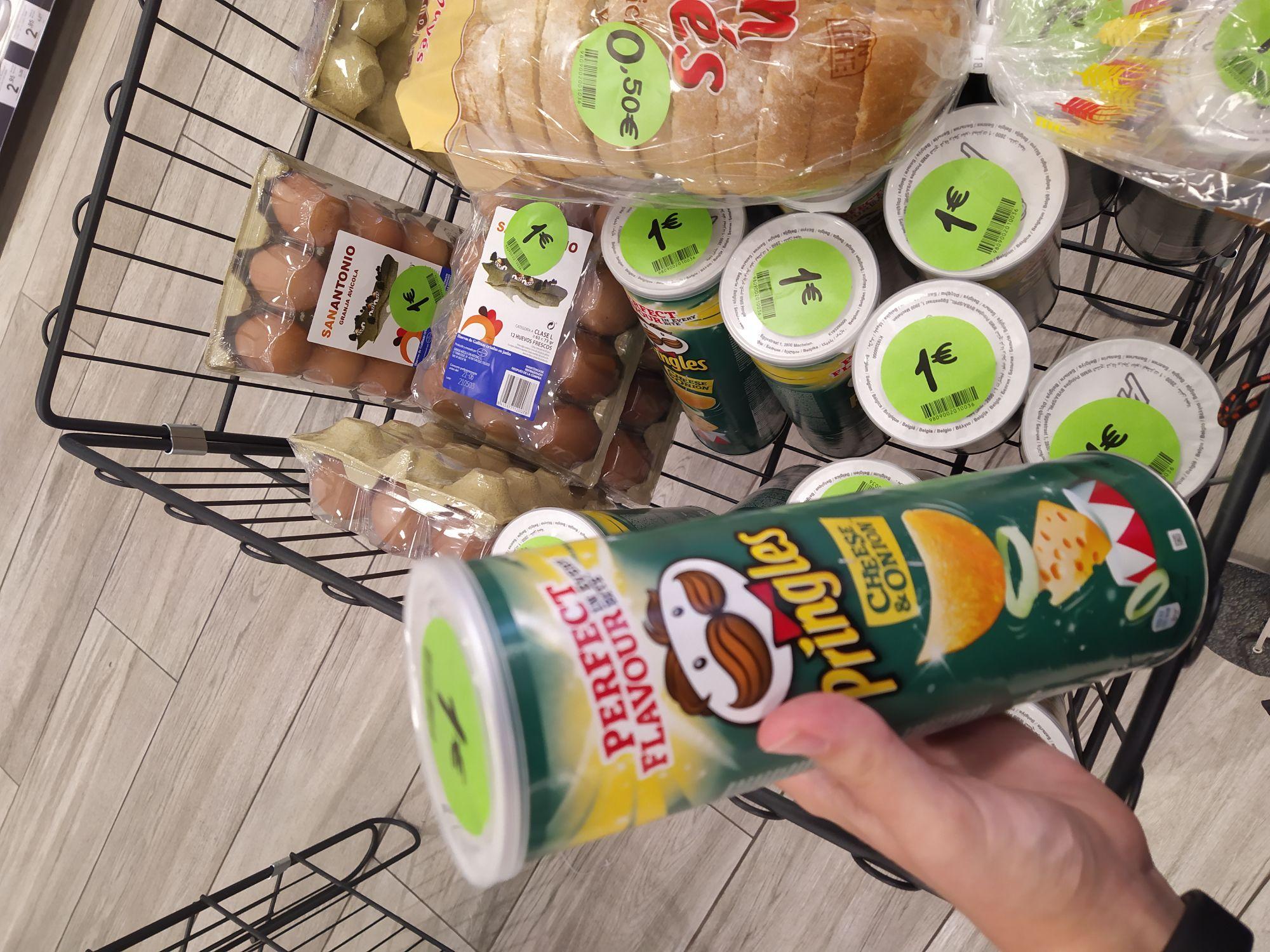 Pringles 150gr a 1€ en el Primaprix de Oviedo