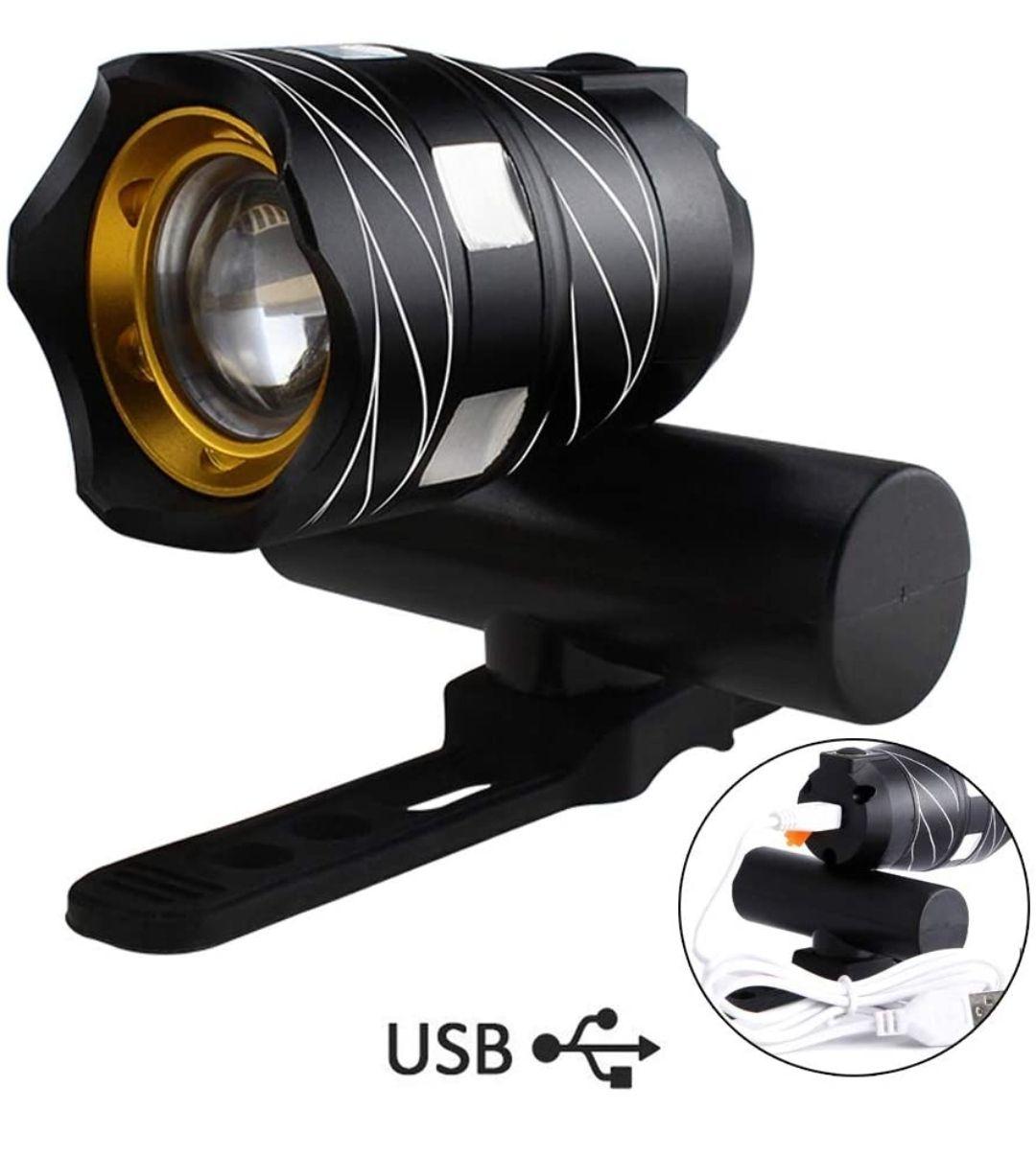Luz de Bicicleta Delantera USB Recargable Impermeable