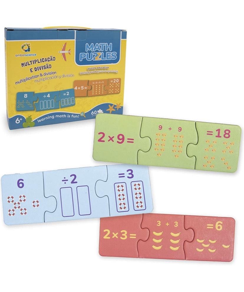 Juego Rompecabezas Educativo de 60 Piezas para Aprender matematicas, para niños 6+.