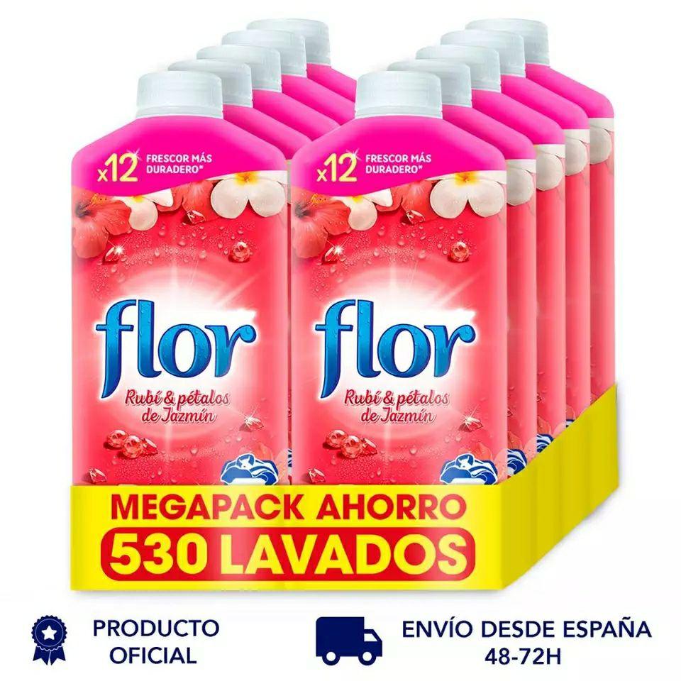 Pack 530 lavados Flor por 14,5€