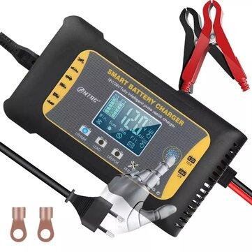 Cargador de baterias HTRC ™ 12V / 24V 10A / 5A Pantalla táctil de 7 etapas Reparación de pulso