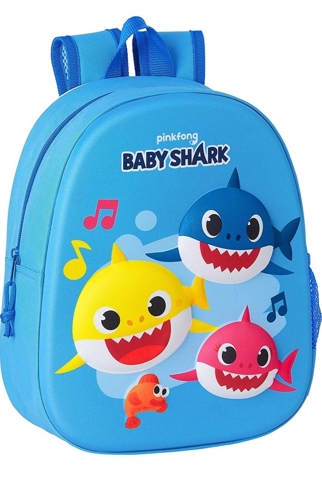 Mochila Baby Shark con dibujo 3D