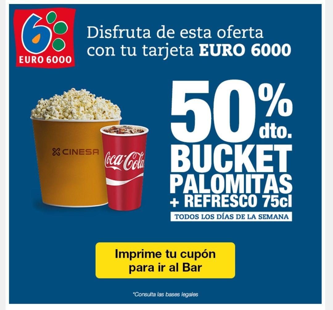 Cinesa: 50% bucket palomitas + refresco 75cl