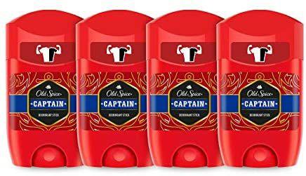 PACK X4 Old Spice Captain Desodorante en Barra para Hombres, 50 ml (6,37€ con cupón)