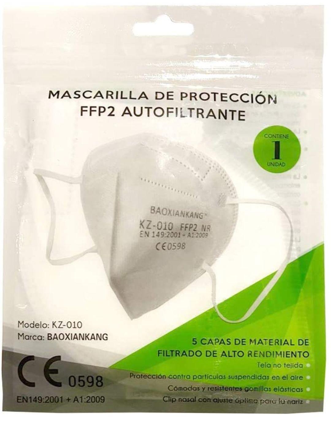 Mascarilla FFP2 Blanca [Vendido y Gestionado por Amazon]