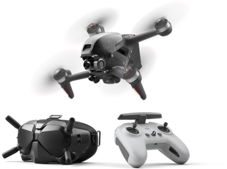 Drone - DJI FPV Combo, 4K UHD, 2000 mAh, MicroSD hasta 256 GB, Negro + FPV Goggles V2 + Control remoto